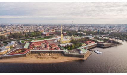 Петропавловска крепост, Санкт Петербург, Русия
