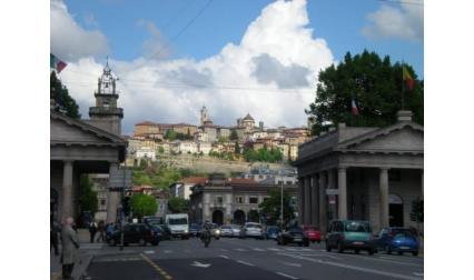 Бергамо - изглед към старият град