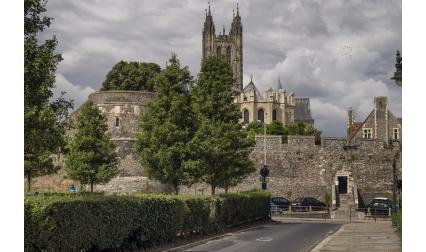 Изглед от град Кентърбъри, Обединеното Кралство