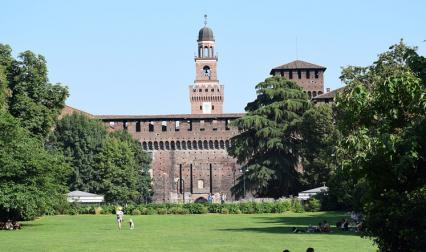 Замъкът Сфорца в Милано