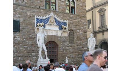 Статуята на Давид пред Стария дворец - Флоренция