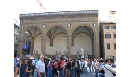 Флоренция - Лоджията на площад Сеньория