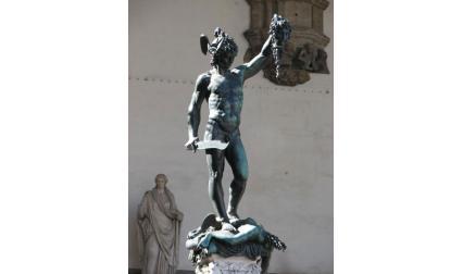 Флоренция - Статуята на Персей в лоджията