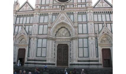 Входните врати на Санта Кроче във Флоренция