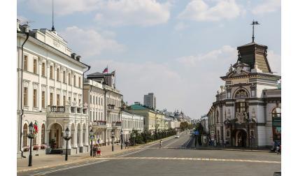 Изглед от град Казан, Татарстан, Русия