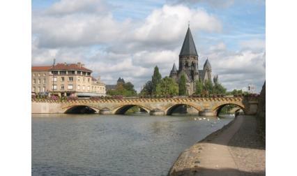 Мец - мост на река Мозел