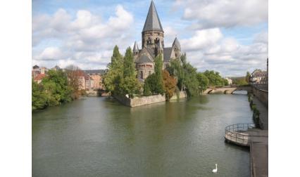 Мец - замък на реката