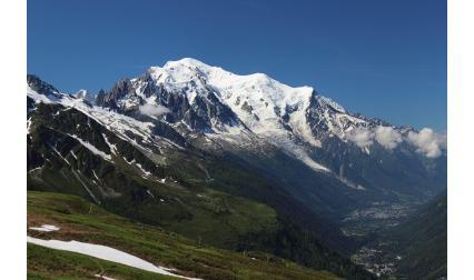 Изглед от връх Мон Блан