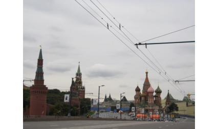 Москва - изглед към Червения площад