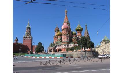 Москва - храм Василий Блаженни до Кремъл