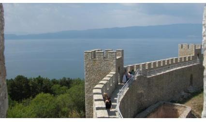 Изглед от Самуиловата крепост в Охрид