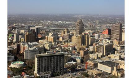 Изглед от Сан Антонио, Тексас, САЩ