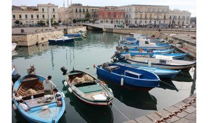 Изглед от Сиракуза, Сицилия, Италия