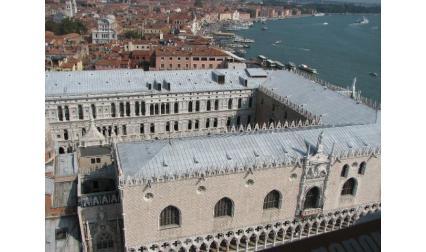 Двореца на дожите - Венеция - изглед от горе