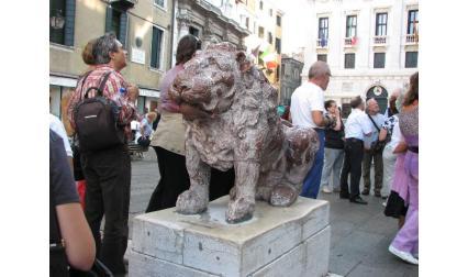Венеция - статуя на крилатия лъв