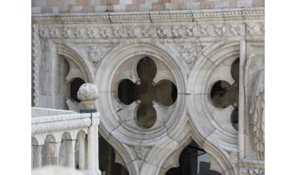 Стена от двореца на дожите във Венеция
