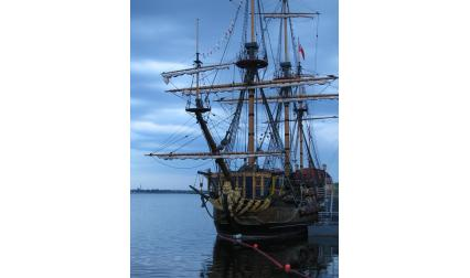 Първият руски кораб