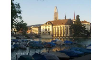 Цюрих - сгради и лодки