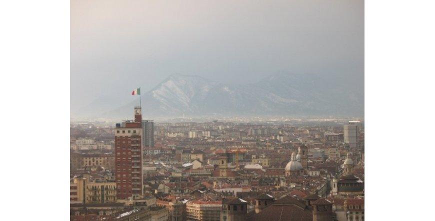 Торино - изглед към планината